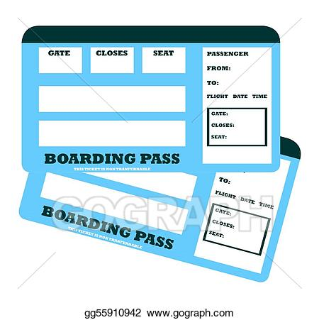Drawing two blank tickets. Ticket clipart flight ticket
