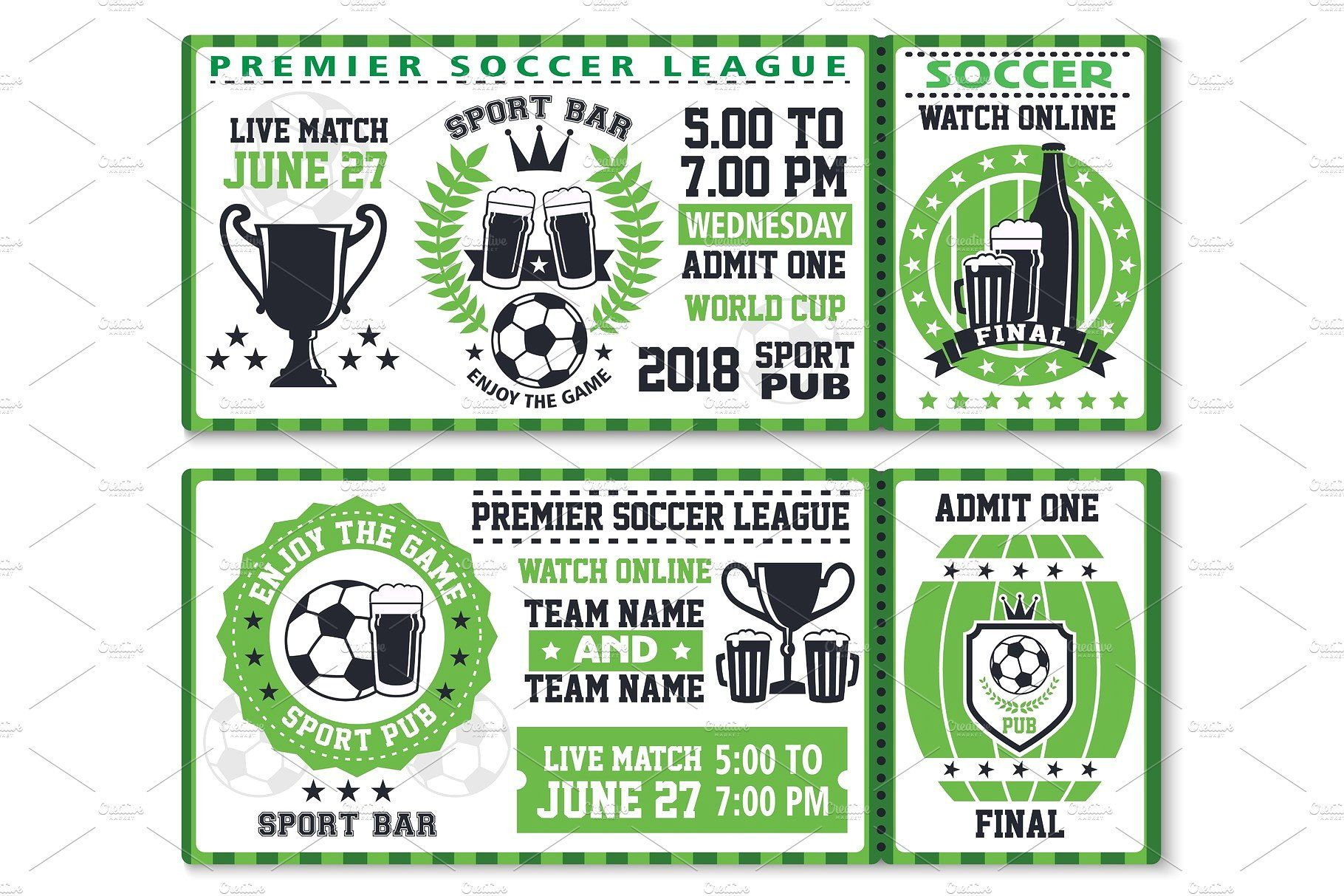 Soccer or football sport. Ticket clipart game ticket