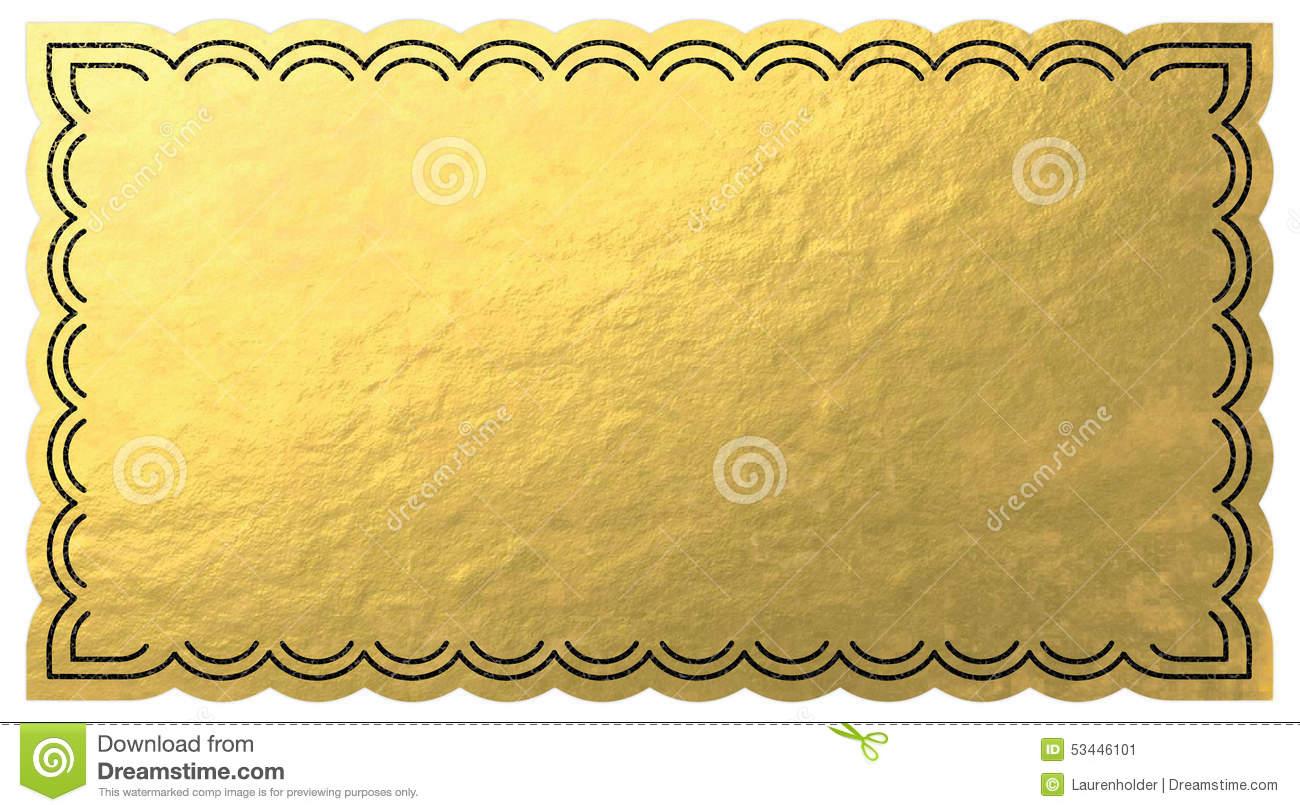 Golden station . Ticket clipart gold