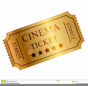 Free images at clker. Ticket clipart gold