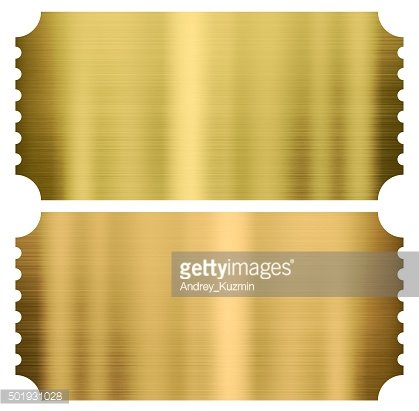 Ticket clipart gold. Cinema or theather tickets