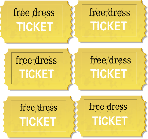 Ticket clipart passes. Free dress pass clip