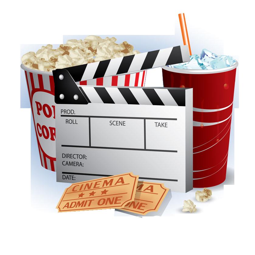 Ticket clipart popcorn. Cinema film this cartoon