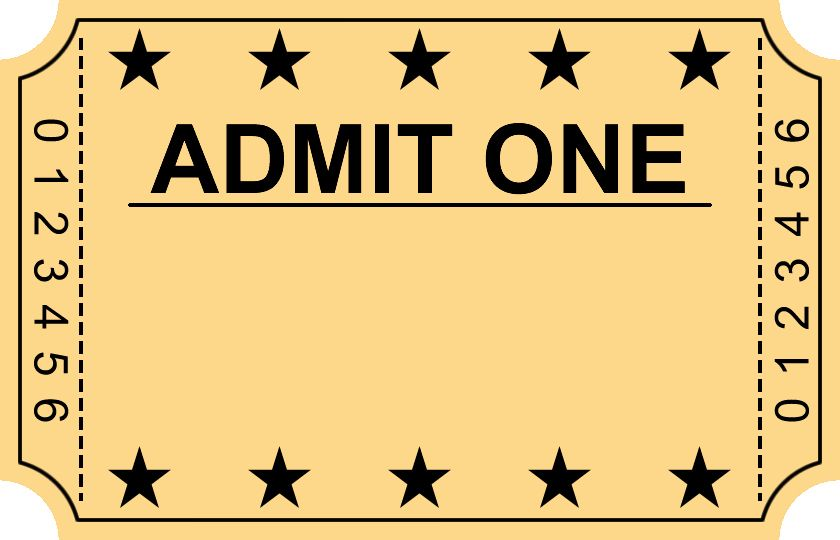 Admit one ticket template. Tickets clipart entry