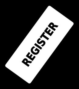 Register button png clip. Ticket clipart svg