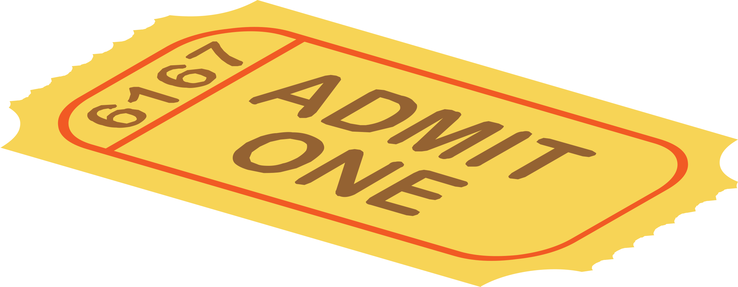 Misc gameshow big image. Ticket clipart yellow
