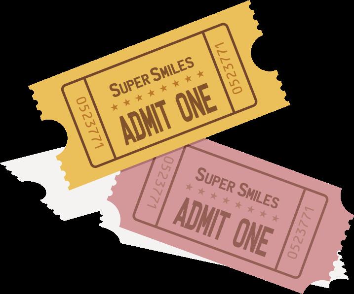 Event tickets medium image. Ticket clipart yellow