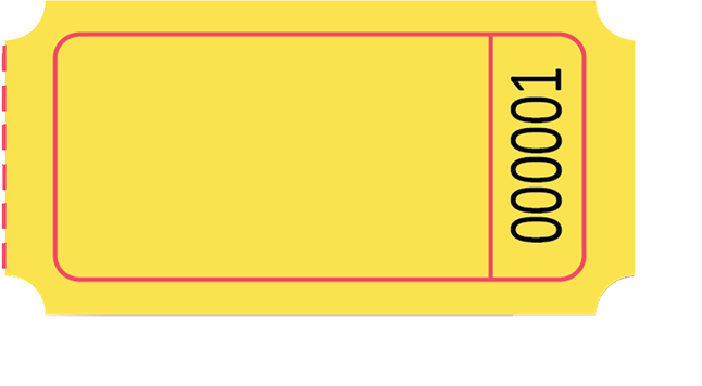 Ticket clipart yellow. School specialty single roll