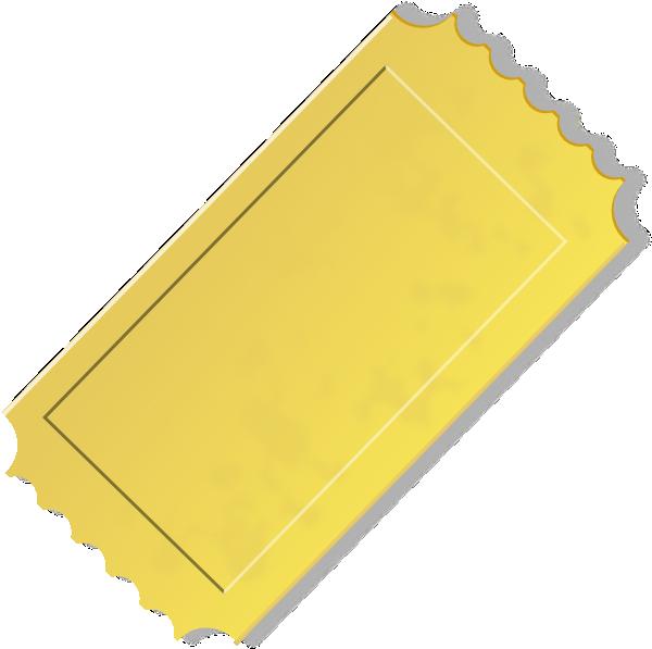 Clip art at clker. Ticket clipart yellow
