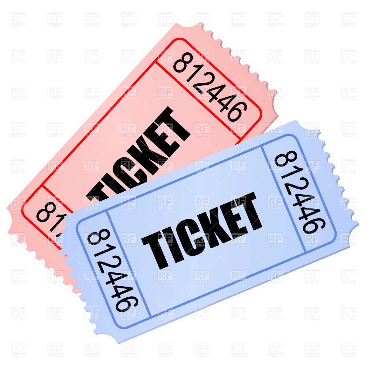 Ticket clipart. Clip art to print