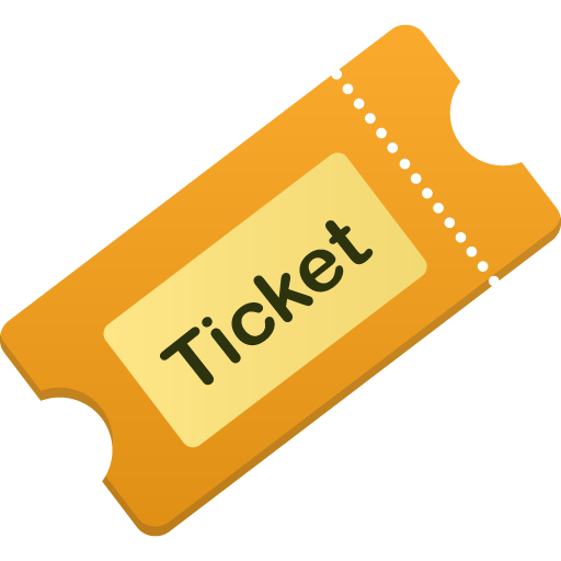 Flatastic iconset custom design. Ticket icon png
