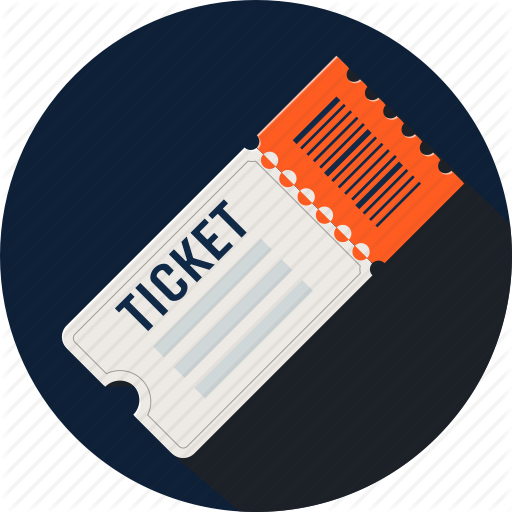 Ticket icon png. Flaturici set by galea