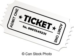 Clip art to print. Ticket clipart
