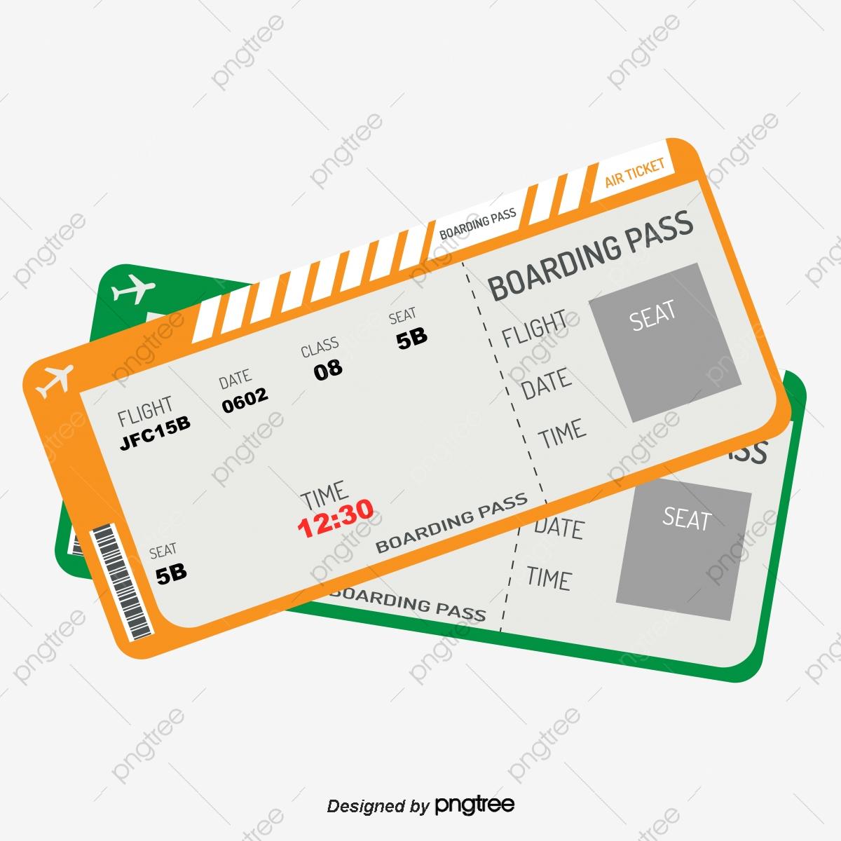Simple color flight boarding. Tickets clipart air ticket