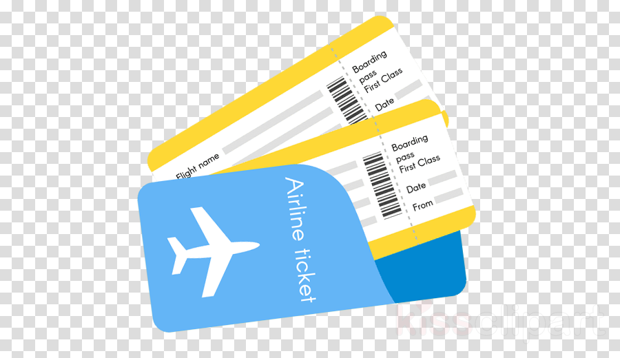 Tickets clipart airplane ticket. Travel flight yellow