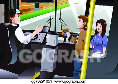 Vector art people paying. Tickets clipart bus fare