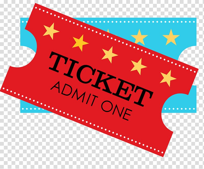 One red circus party. Ticket clipart admission