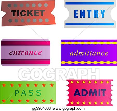 Tickets clipart entry. Drawing gg gograph