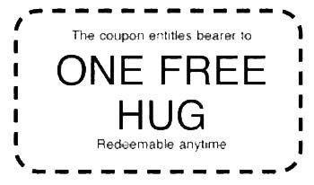 Tickets clipart free hug. Coupon clip art romance
