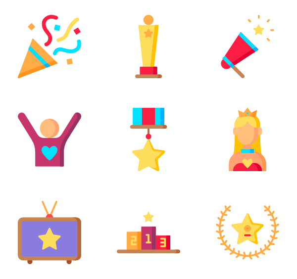 Icons free fame. Star vector png