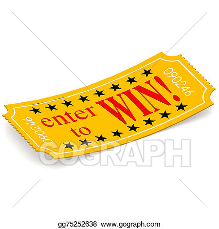Tickets clipart win. Stock illustration enter to