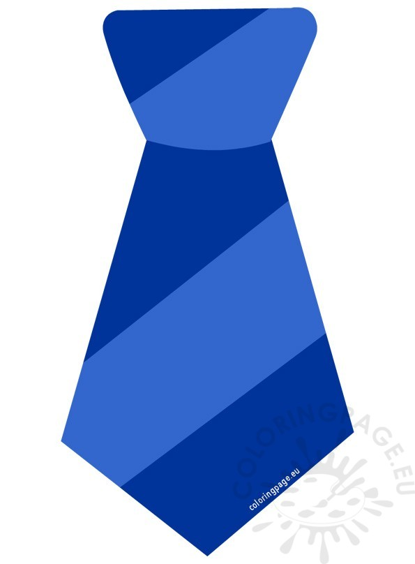 Striped coloring page. Blue clipart neck tie
