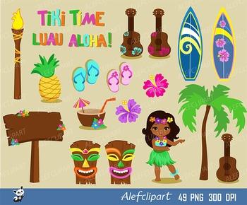 Tiki clipart. Luau hawaii hula girl