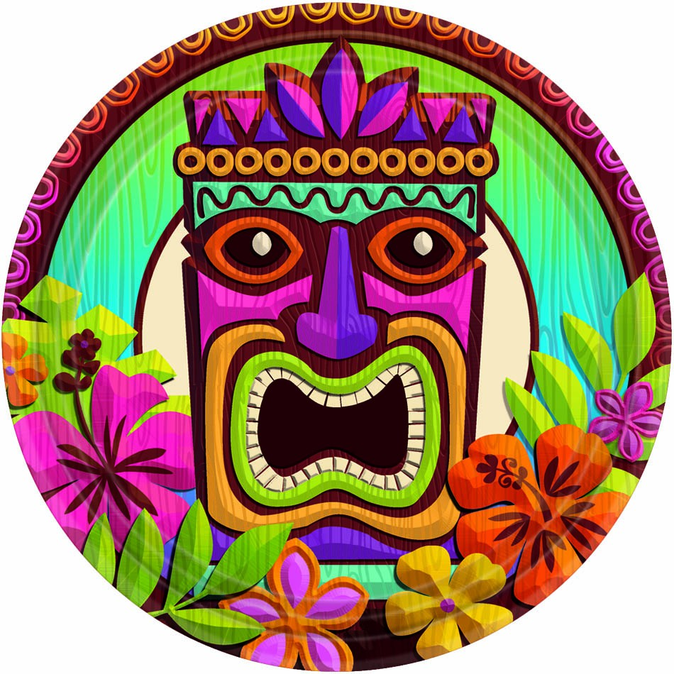 Free tiki cliparts download. Hawaii clipart faces