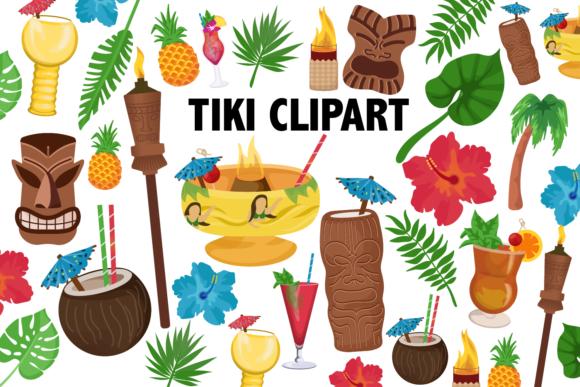 Tiki clipart themed.