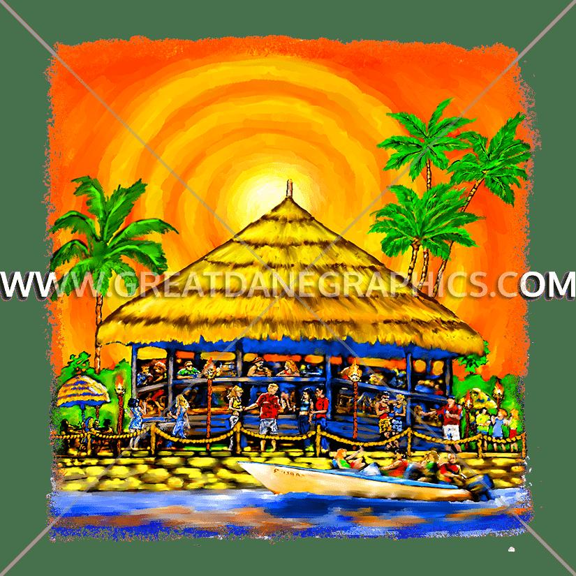 Production ready artwork for. Tiki clipart tiki bar