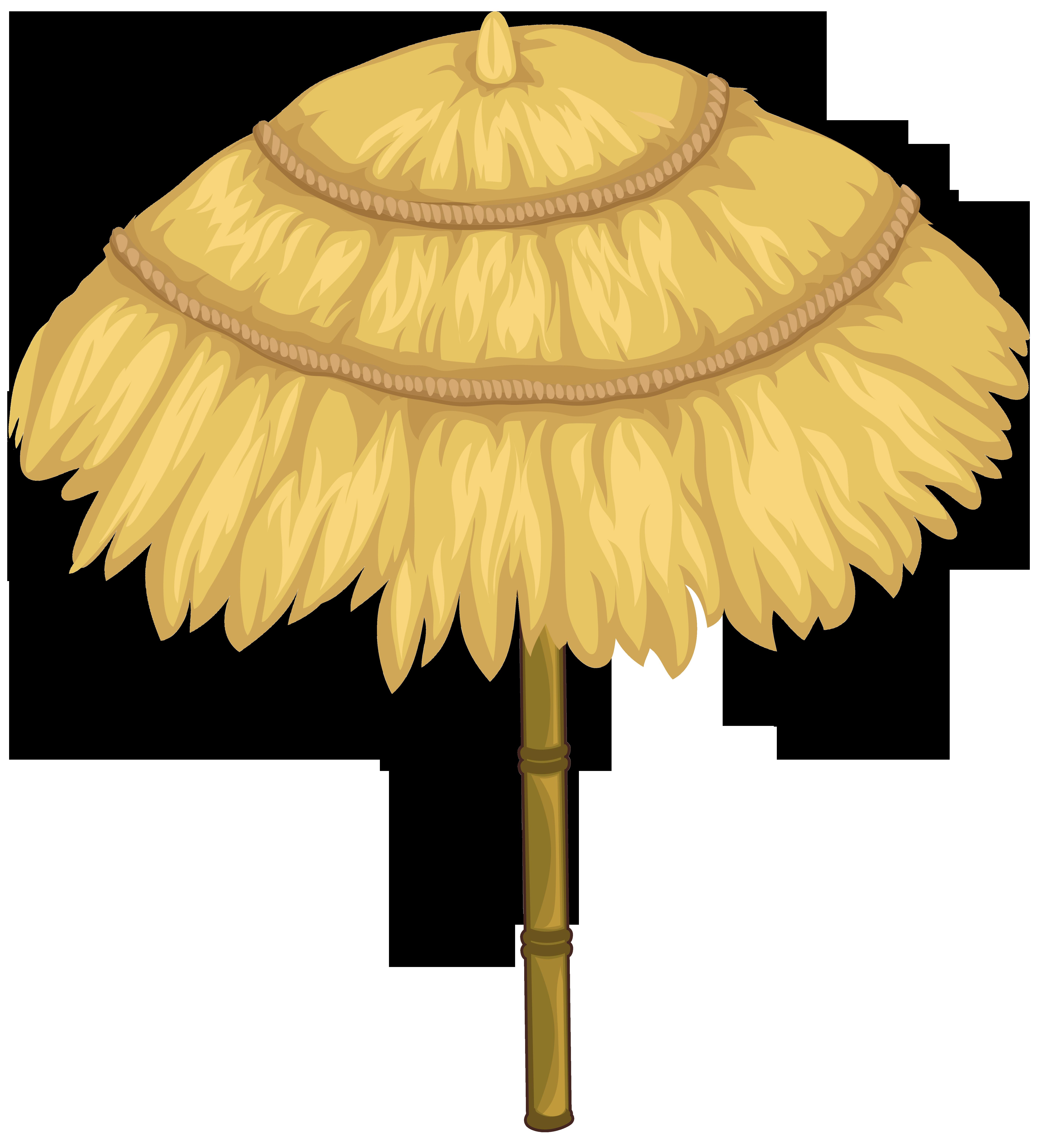 Thatching umbrella roof palapa. Tiki clipart tiki bar