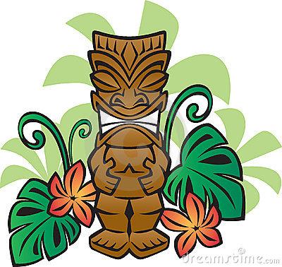 Tiki clipart. Hawaiian clip art panda