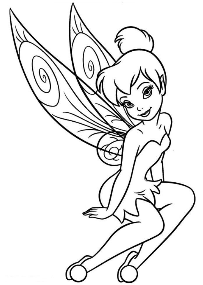 Tinkerbell clipart color. Download and print free