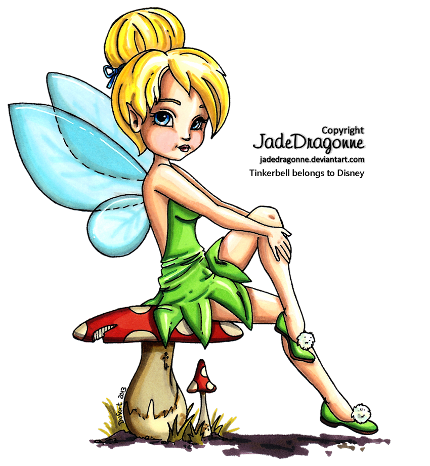 Colored by jadedragonne on. Tinkerbell clipart color