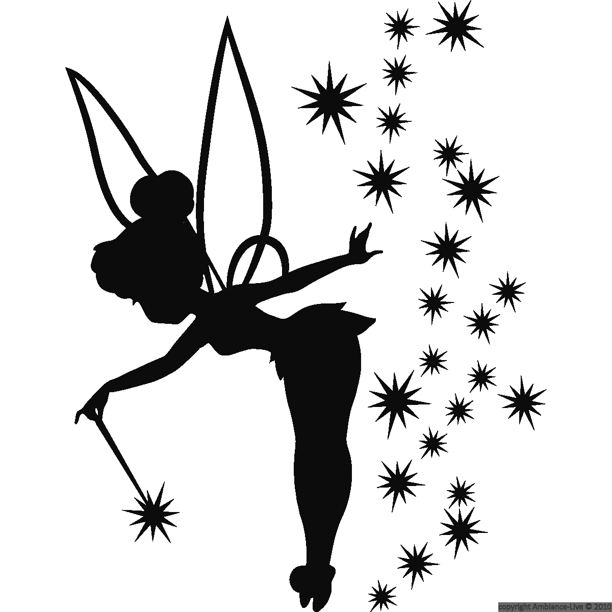 Download tattoo silhouette bell. Tinkerbell clipart gold