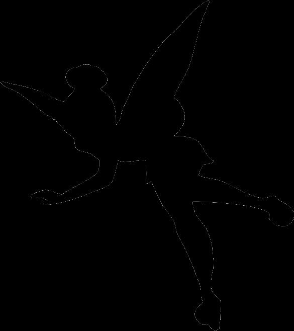 Tinkerbell clipart shadow. Silhouette think disney fairies