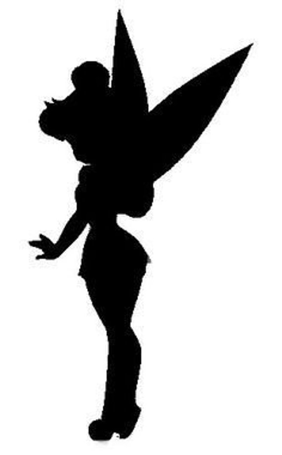 Silhouette decal products disney. Tinkerbell clipart shadow