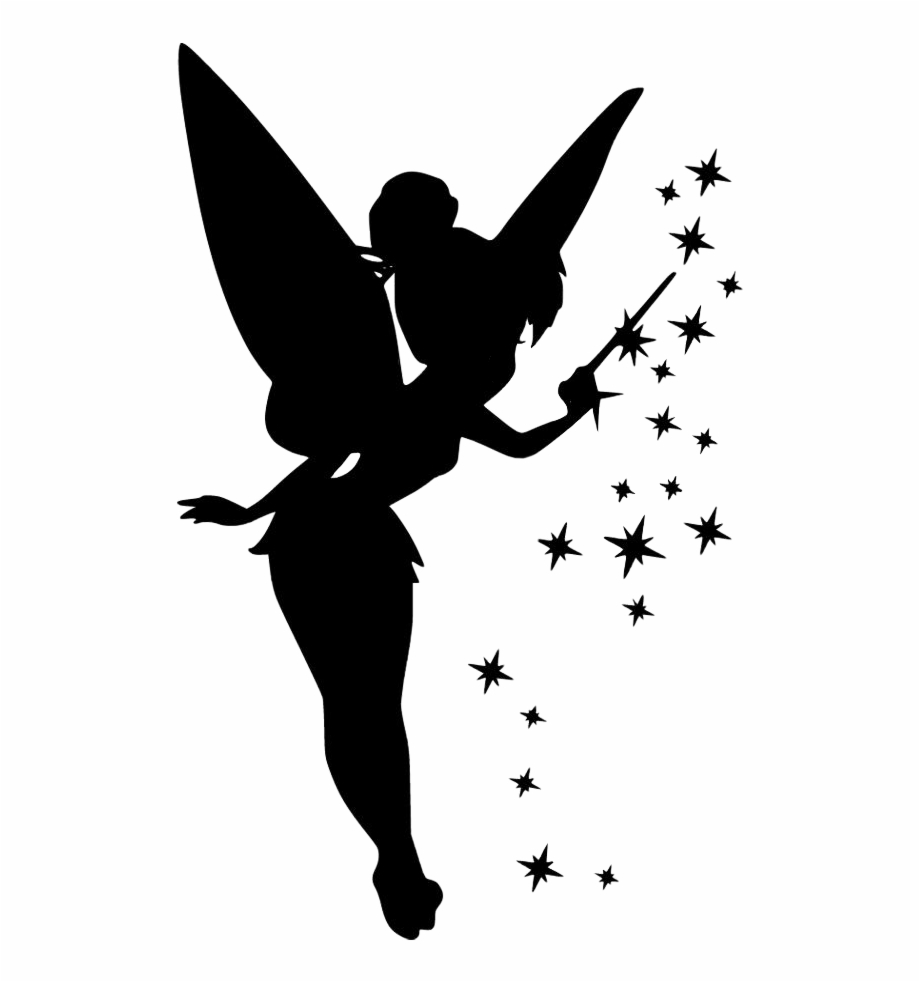 Free peter pan and. Tinkerbell clipart silhouette