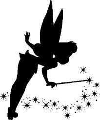 Tinkerbell clipart silhouette. Free clip art download