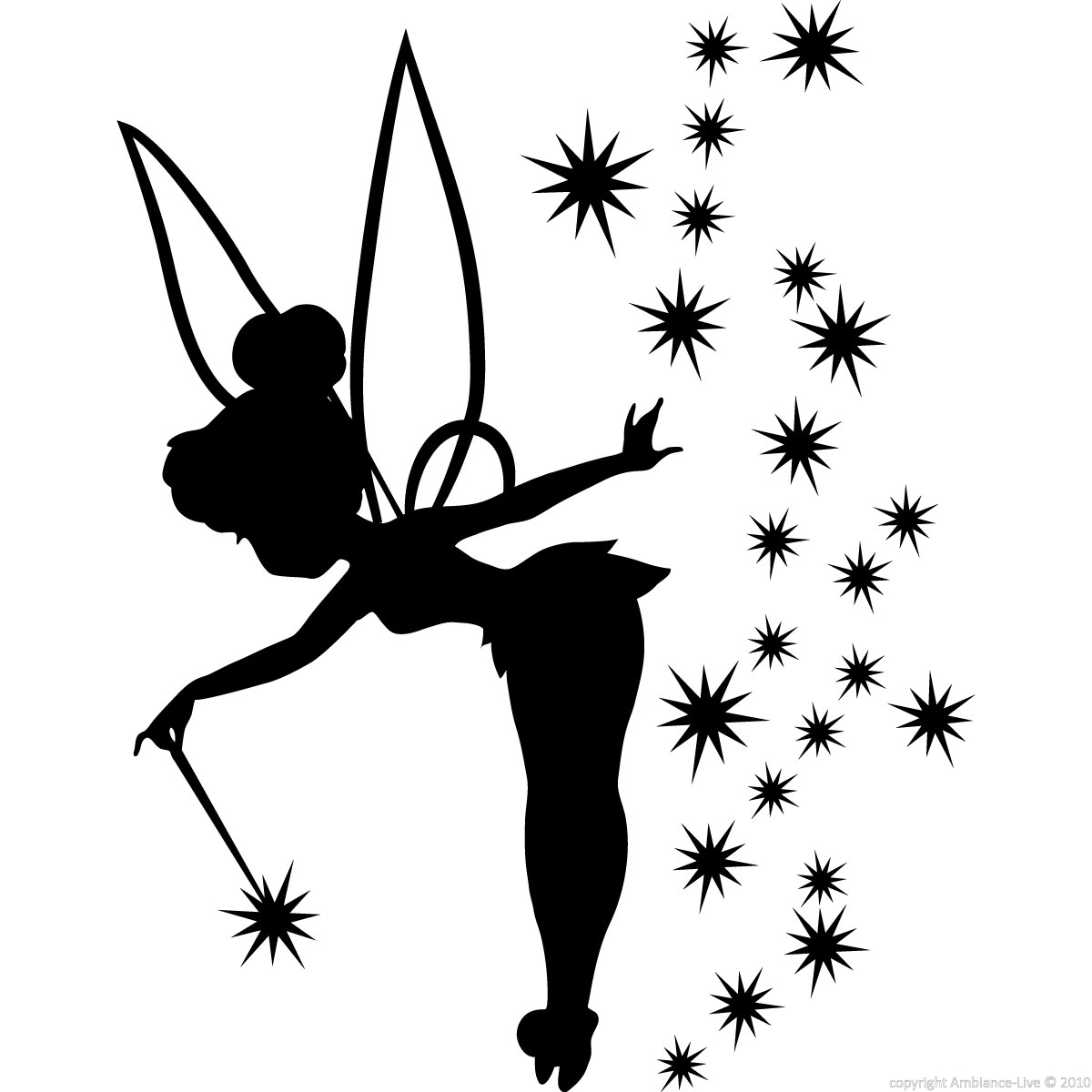 Free clip art images. Tinkerbell clipart silhouette