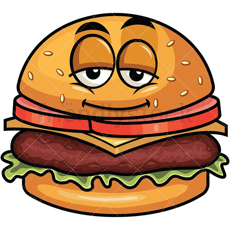 Tired clipart fast. Sleepy hamburger emoji burger