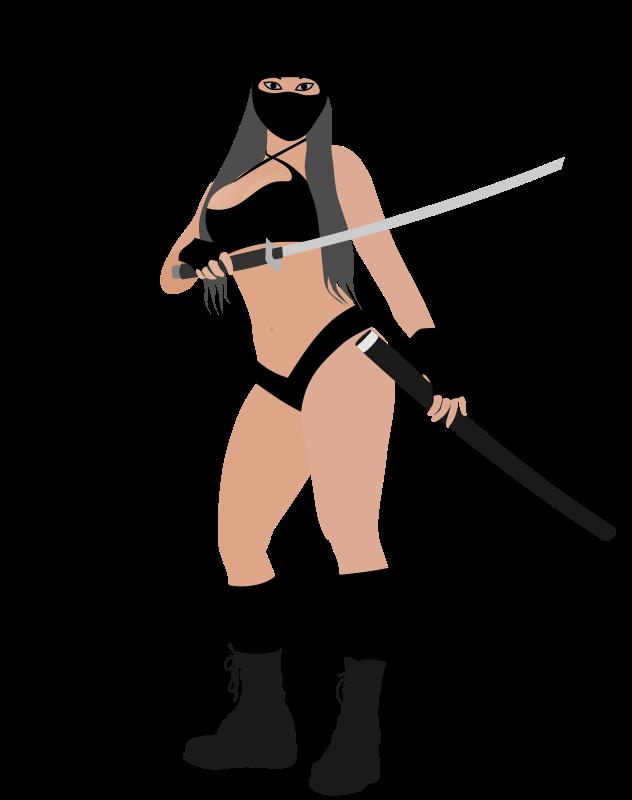 Tired clipart female. Anime ninja girl