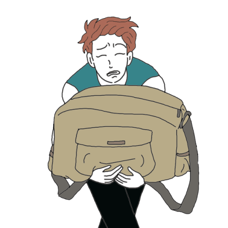 Dreams about a interpretation. Tired clipart heavy bag
