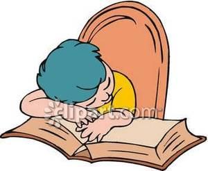 Boy fell asleep doing. Tired clipart homework