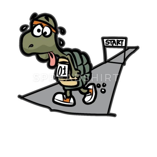 Turtle half funny runner. Tired clipart mini marathon