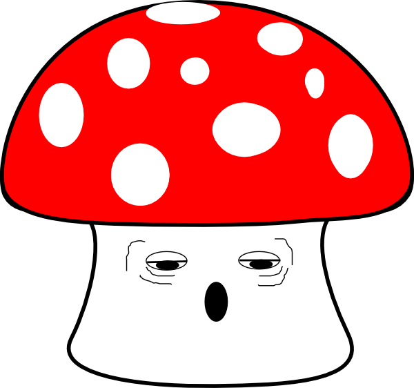 Tired clipart tierd. Mushroom clip art at