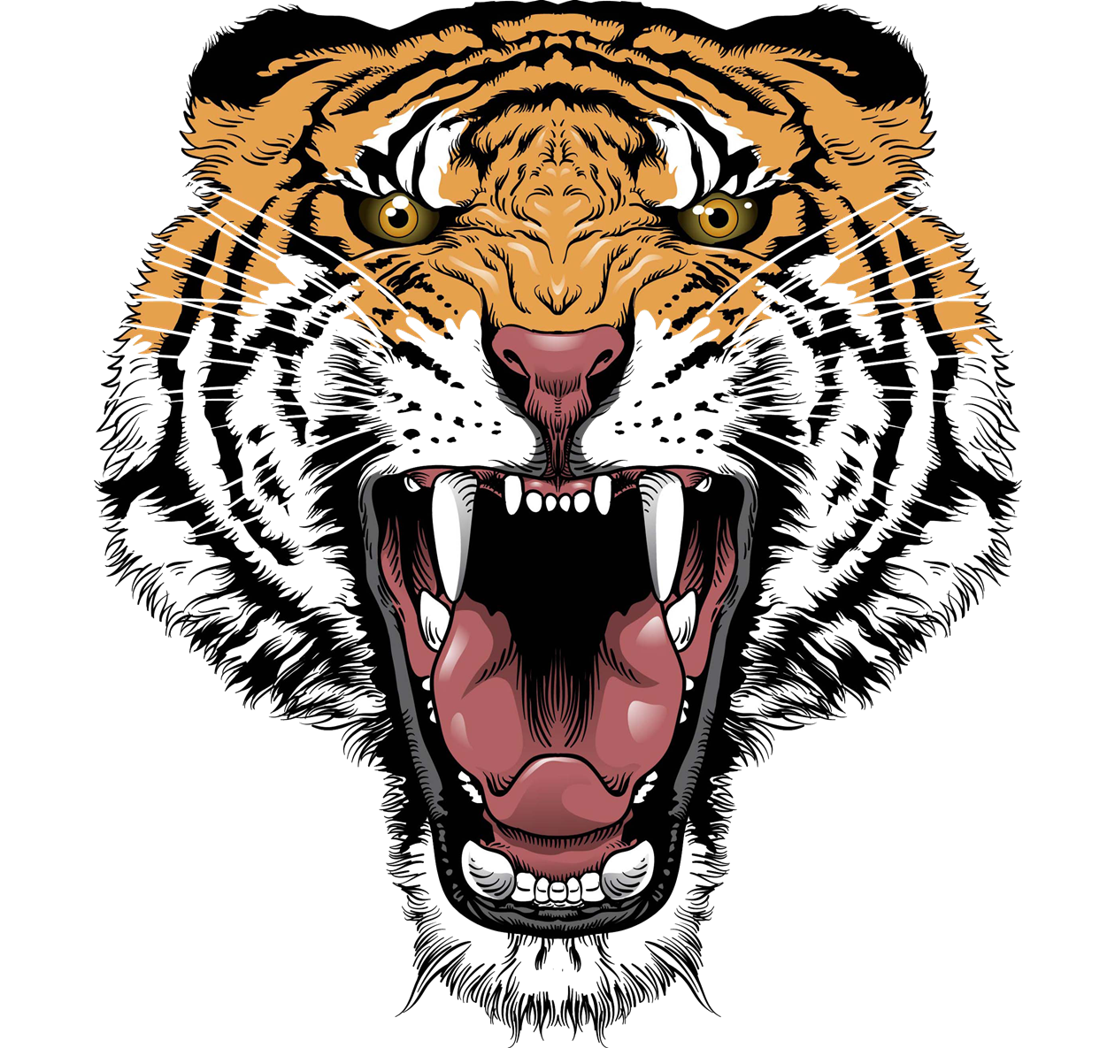 Png face transparent images. Tired clipart tiger
