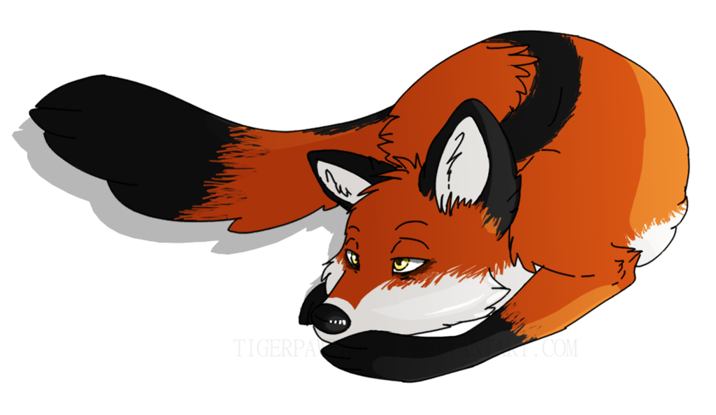Tired clipart tiger. Fox by tigerpawthecat on