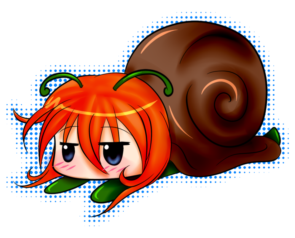 A snail by upyoshi. Tired clipart tired expression