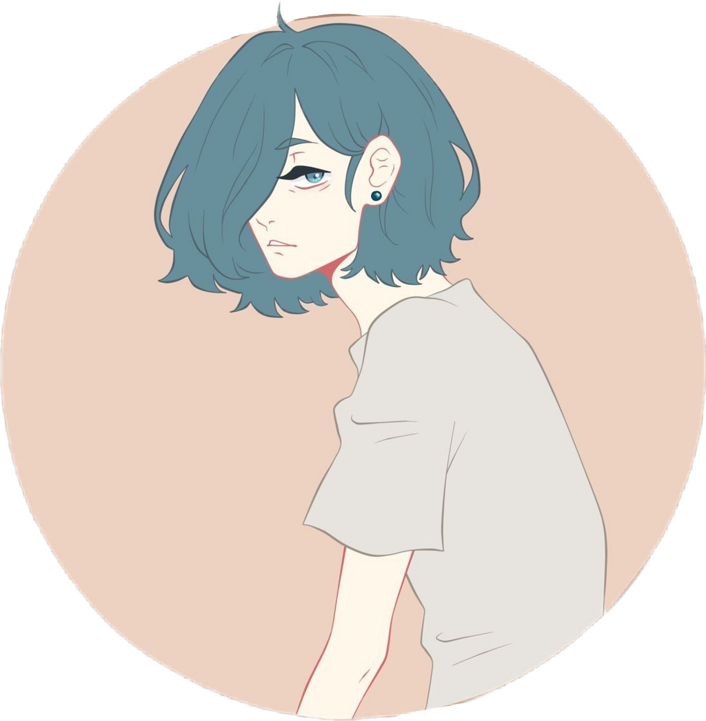 Blues blue depression circle. Tired clipart tired girl